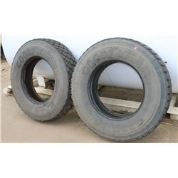 PAIR OF GOODYEAR TIRES, 11R22.5, G338 1AD