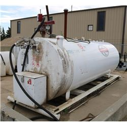 4000 LITRE LARGE GAS TANK WITH FILL-RITE PUMP