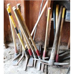 LARGE LOT OF PICKAXE'S & WATER SHUTOFF STICKS