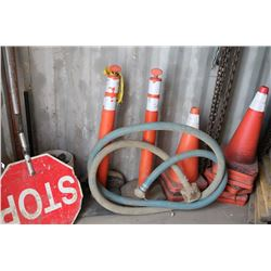 LOT OF VARIOUS TRAFFIC CONES, SIGNS & MORE