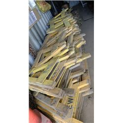 LARGE LOT OF SAWHORSE CONSTRUCTION BARRICADES