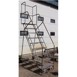 9 STEP ROLLING LADDER