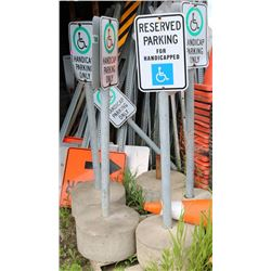 VARIOUS ROAD SIGNS & METAL STANDS