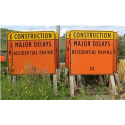 LOT OF 10 MAJOR DELAY SIGNS