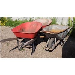 LOT OF 3 WHEEL BARROWS