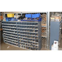 3 BARTS BINS W/CONTENTS OF BOLTS, WASHERS, NUTS