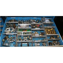 DRAWER OF VARIOUS FITTINGS, PLUGS & MORE