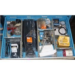 DRAWER WITH ASSORTED PARTS, TOOLS & TIESTRAPS