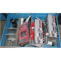 DRAWER WITH NEW GREASE GUNS, FILL-RITE NOZZLE &