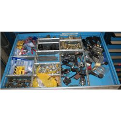 DRAWER WITH TEST CLAMPS, SWITCHES & MORE