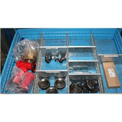 DRAWER WITH BRASS VALVES, FITTINGS & NOZZLES