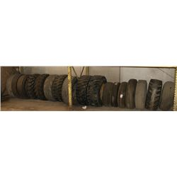 LARGE LOT OF VARIOUS SIZED TIRES