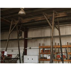 ROLLING A-FRAME GANTRY HOIST WITH CERTIFICATION