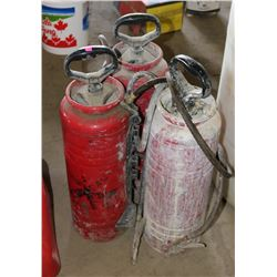 LOT OF 3 LARGE METAL SPRAYERS