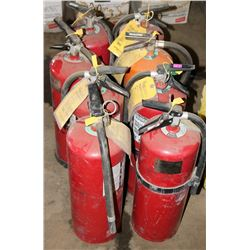 LOT OF 8 LARGE FIRE EXTINGUISERS