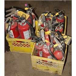 LARGE LOT OF FIRE EXTINGUISERS