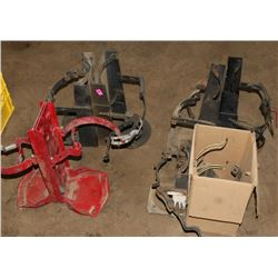 LOT OF 8 FIRE EXTINGUISHER MOUNTING RACKS
