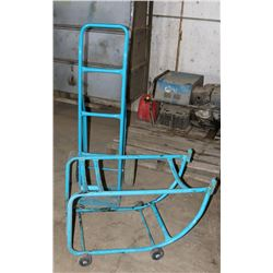 HAND TRUCK AND WHEELED BARREL STAND