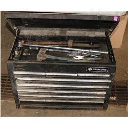 PROCORE 8 DRAWER TOOLBOX WITH CONTENTS