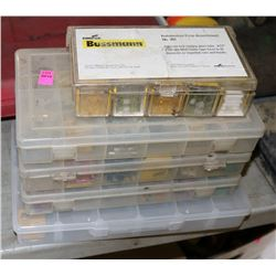 5 BOXES OF VARIOUS FUSES