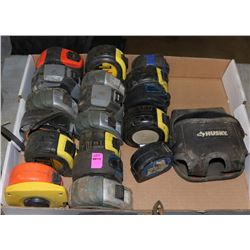 LOT OF ASSORTED MEASURING TAPES