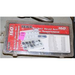NEW TEKZ 160PC SOCKET HEAD SCREW ASSORTMENT