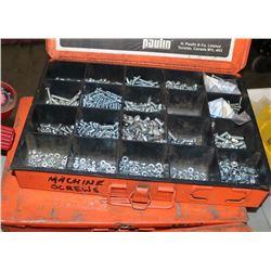 2 METAL BOXES OF MACHINE SCREWS