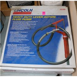 LINCOLN HEAVY DUTY LEVER ACTION FLUID PUMP