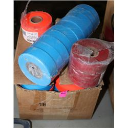 LOT OF VARIOUS FLAGGING TAPE