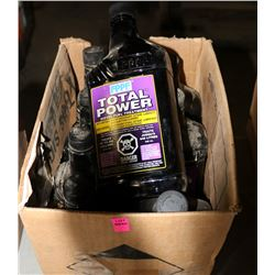 BOX OF MELT DOWN & TOTAL POWER DIESEL FLUID