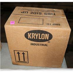CASE OF 12 KRYLON WHITE SPRAY PAINT