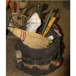 BUCKET TOOL POUCH WITH CONTENTS