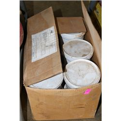 BOX OF 12 BUCKETS OF PIPE LUBRICANT