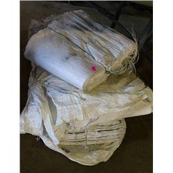 BUNDLES OF TARP BAGS FOR SANDS