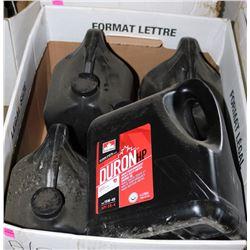 BOX OF 4 JUGS DURA HEAVY DUTY DIESEL ENGINE OIL