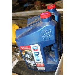 LOT OF 2 CHEVRON /DELCO OIL, 15W40