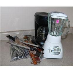 COFFEE POT, BLENDER & KITCHEN TOOL LOT