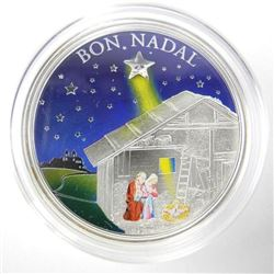 925 Sterling Silver 'BON NADAL' 5D Coin