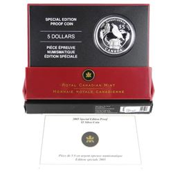 .9999 Fine Silver 2005 $5.00 Coin 'Special Edition