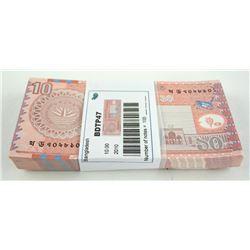 Bundle/Brick 'Bangladesh' 2010 $10.00 x (100) UNC