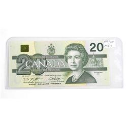 1991 Bank of Canada Twenty Dollar Note (UNC)