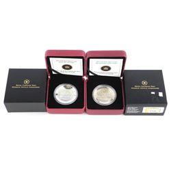 Lot (2) 9.9 Fine Silver $20.00 Coins Franz Johnson