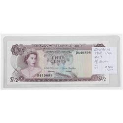 Bahamas 1968 1/2 Dollar UNC