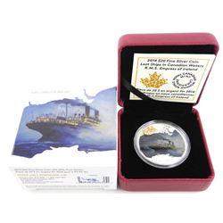 .9999 Fine Silver $20.00 Coin R.M.S. Empress of Ir