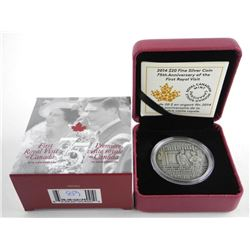 .9999 Fine Silver $20.00 Coin First Royal Visit LE