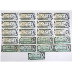Estate Lot (21) Bank of Canada One Dollar Notes