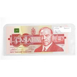 1988 bank of Canada Fifty Dollar Note. GEM UNC