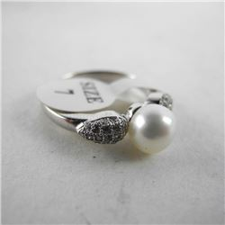 925 Silver Custom Ring Classic Freshwater Pearl wi