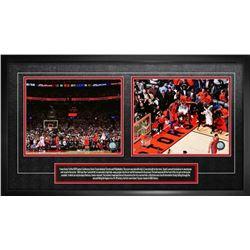 Leonard,K 8x10 Double Photo Raptors Game 7 Basket