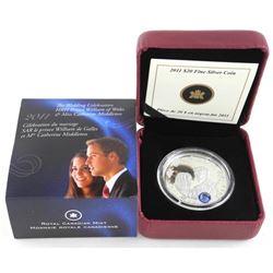 .999 Fine Silver $20.00 Coin 2011 Royal Wedding